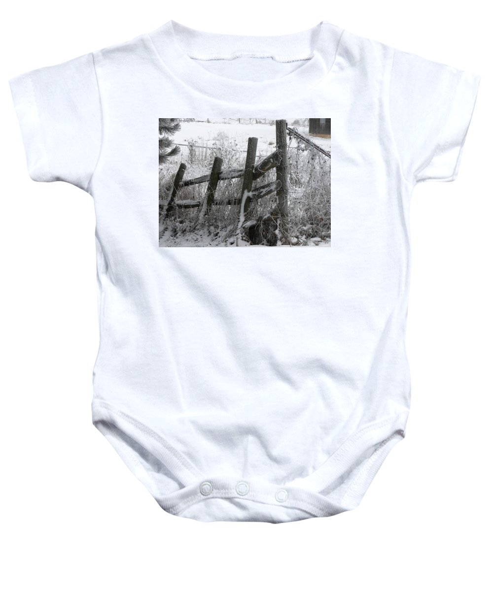 Farm Baby Onesie featuring the photograph Yesterday's Protector by Melissa Haney