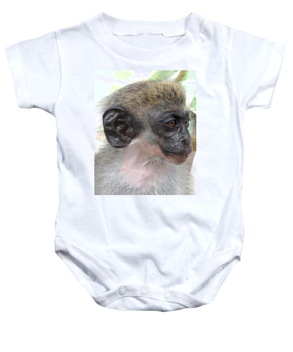 Verdant Baby Onesie featuring the photograph Yoda Before Star Wars by Ian MacDonald