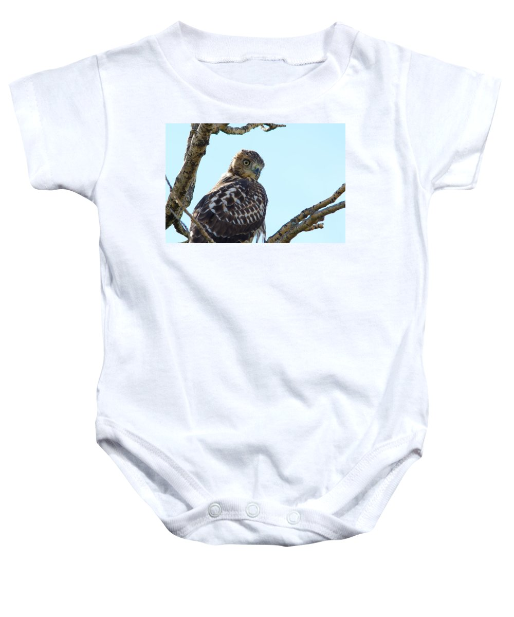 Nature Baby Onesie featuring the photograph You're Still Here by Crystal Massop