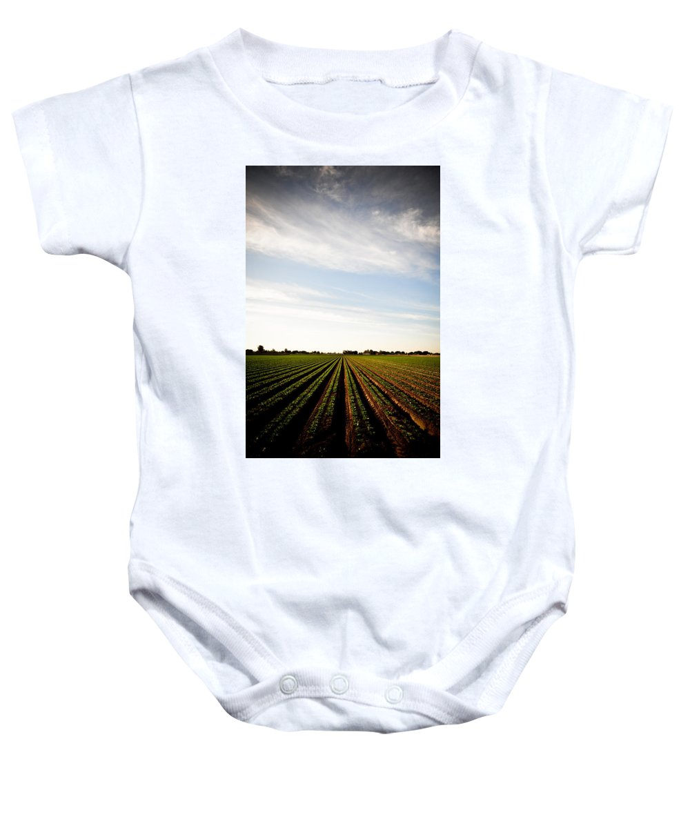 Lettuce Baby Onesie featuring the photograph Yuma Fields by Scott Sawyer