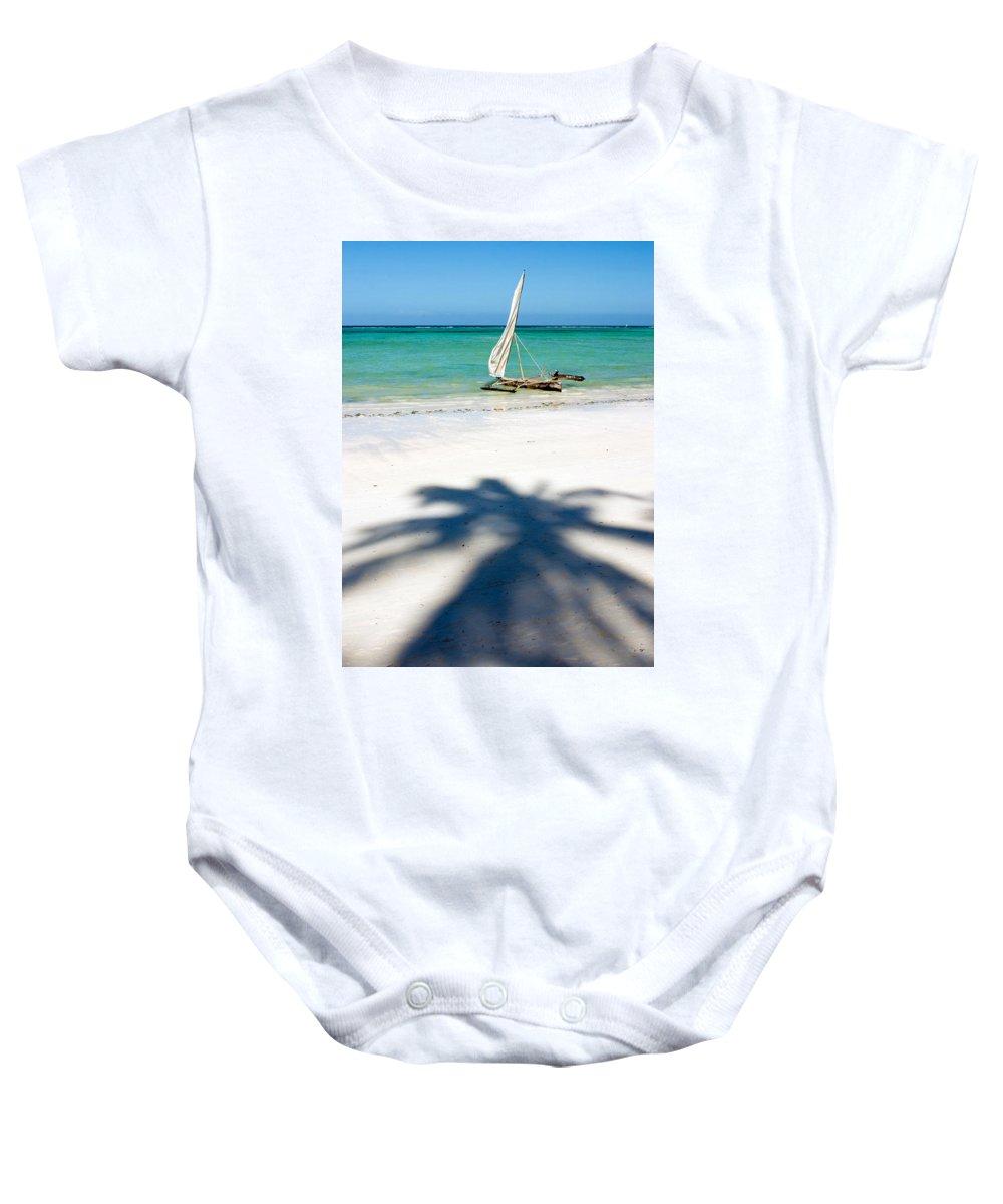 3scape Baby Onesie featuring the photograph Zanzibar Beach by Adam Romanowicz