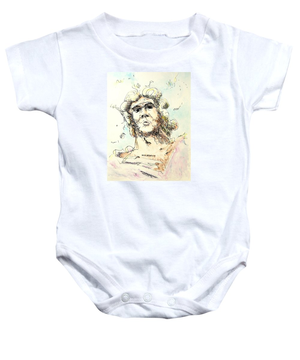 Zeus Baby Onesie featuring the painting Zeus by Dave Martsolf