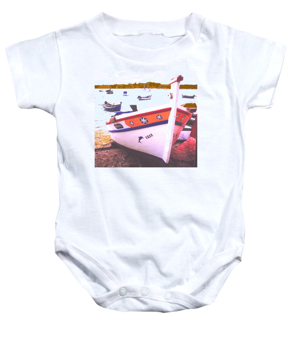 Portugal Baby Onesie featuring the photograph Zeze On The Algarve by Ian MacDonald