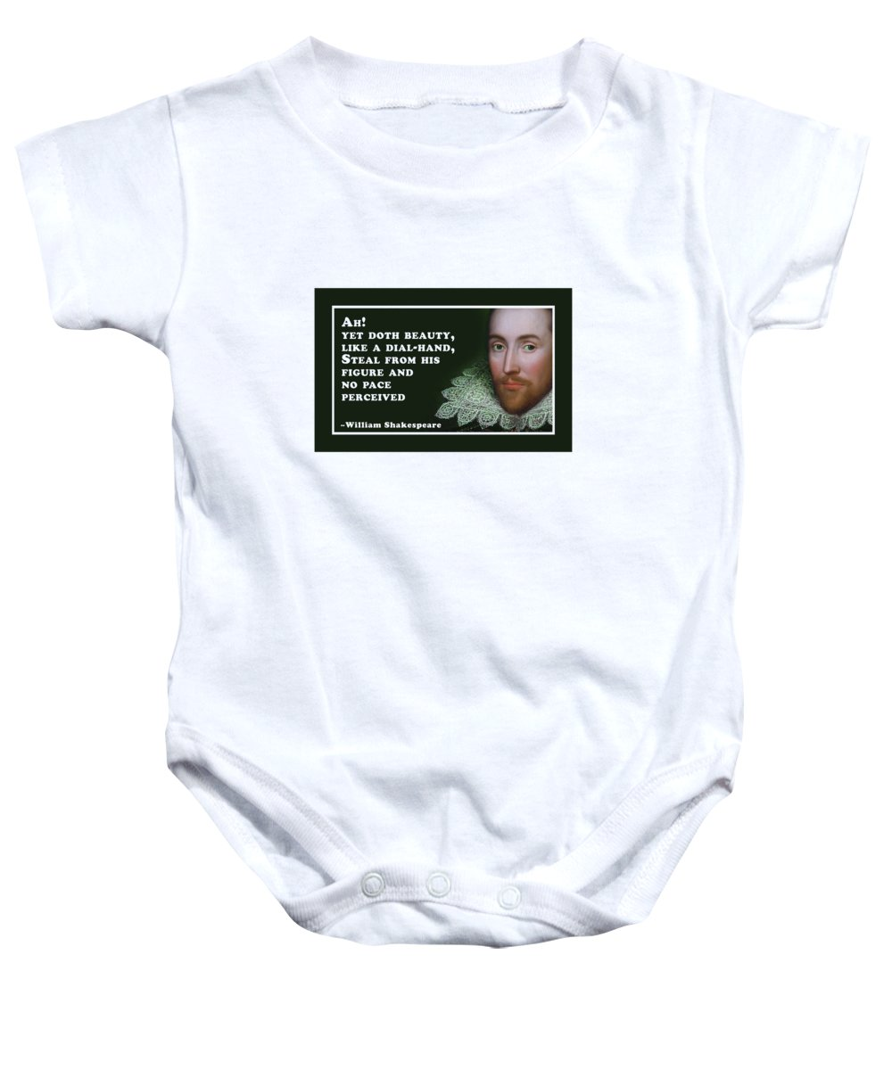 Ah Baby Onesie featuring the digital art No Pace Perceived #shakespeare #shakespearequote by TintoDesigns