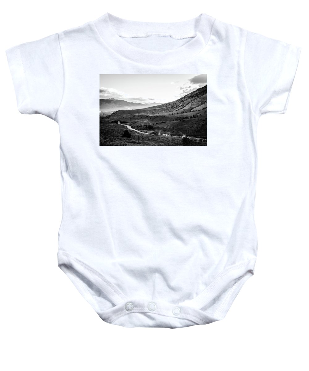 Landscape Baby Onesie featuring the photograph Boiling River by Jason Bohl