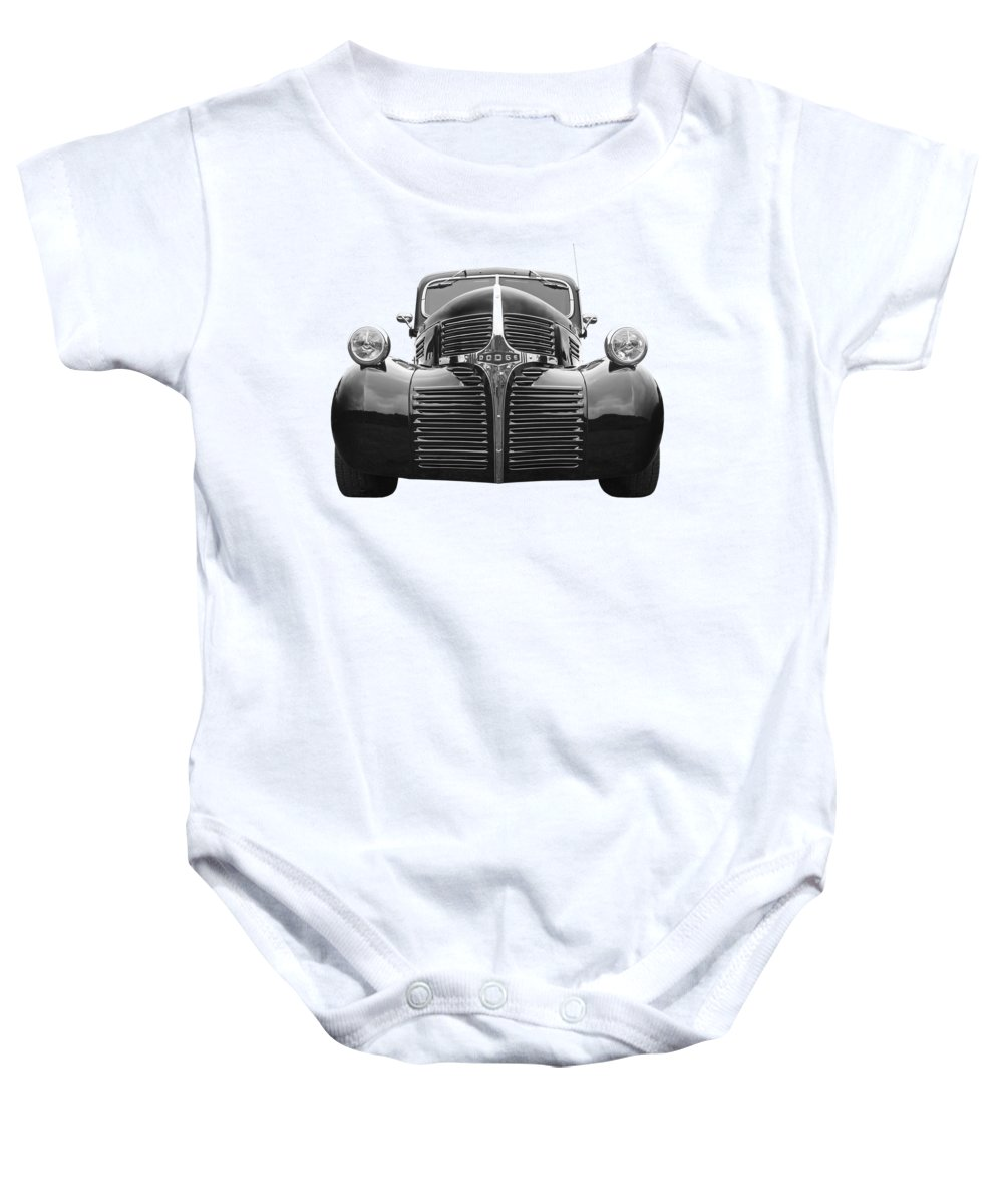 Dodge Truck Baby Onesie featuring the photograph Dodge Truck 1947 by Gill Billington