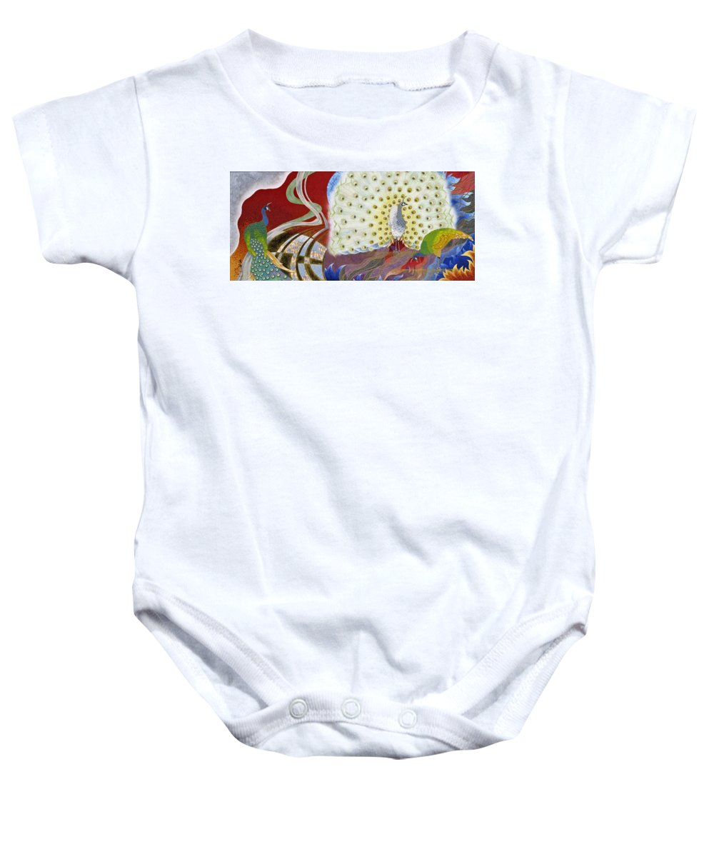 Asian Baby Onesie featuring the painting Japanese Modern Interior Art #153 by ArtMarketJapan