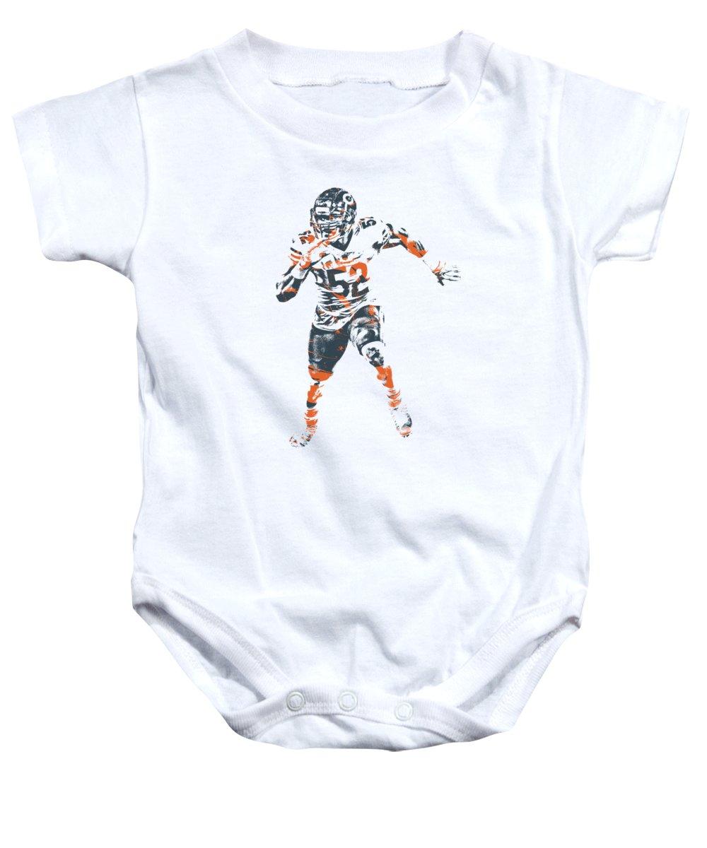 best website 8a5f1 b457e Khalil Mack Chicago Bears Apparel T Shirt Pixel Art 1 Baby Onesie