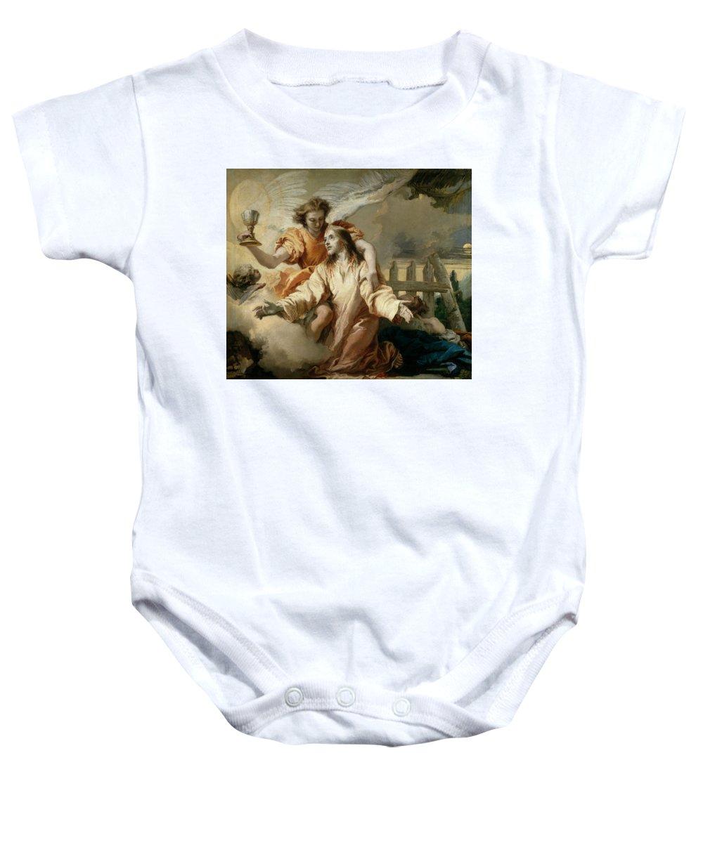 Tiepolo Giandomenico Baby Onesie featuring the painting La Oracion En El Huerto  by Tiepolo Giandomenico