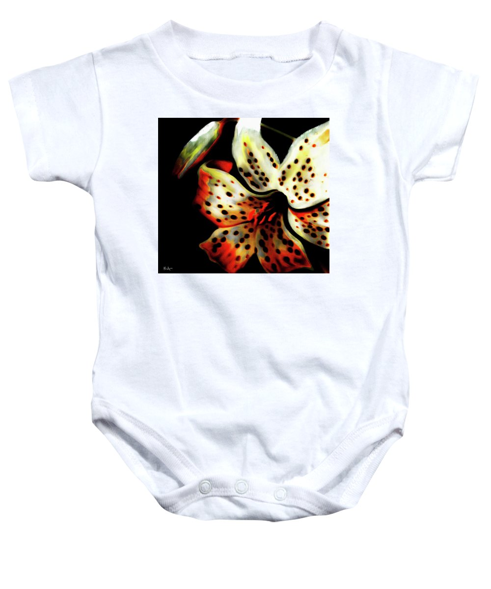 Baby Onesie featuring the photograph Miss Lily by Dean Arneson