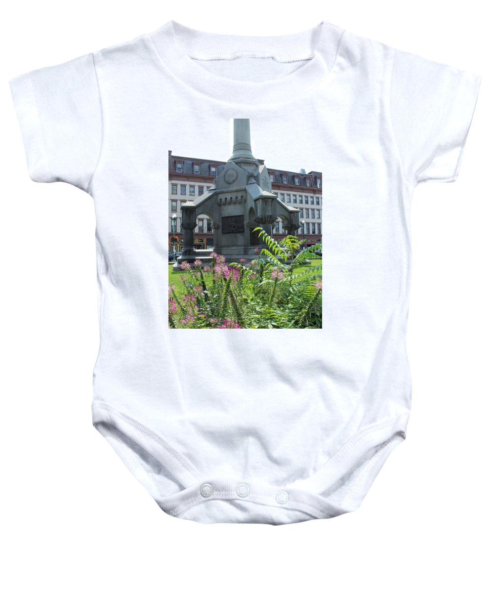 Monument Baby Onesie featuring the photograph Monument Square by Brittany Galipeau