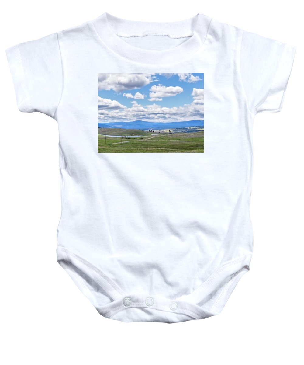 Rural Baby Onesie featuring the photograph Near Princeton British Columbia by Allan Van Gasbeck