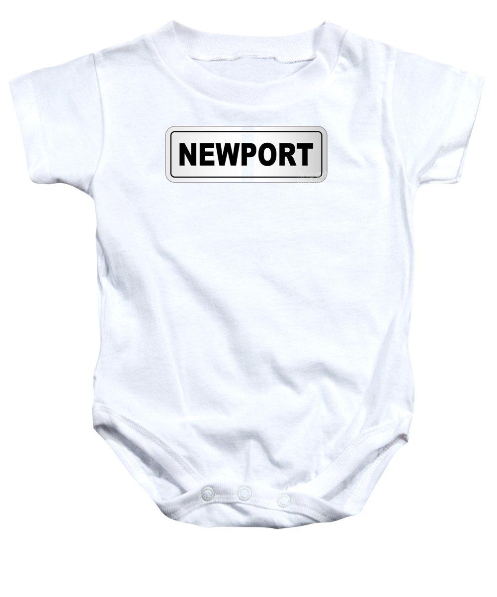 Newport Baby Onesie featuring the digital art Newport City Nameplate by Bigalbaloo Stock
