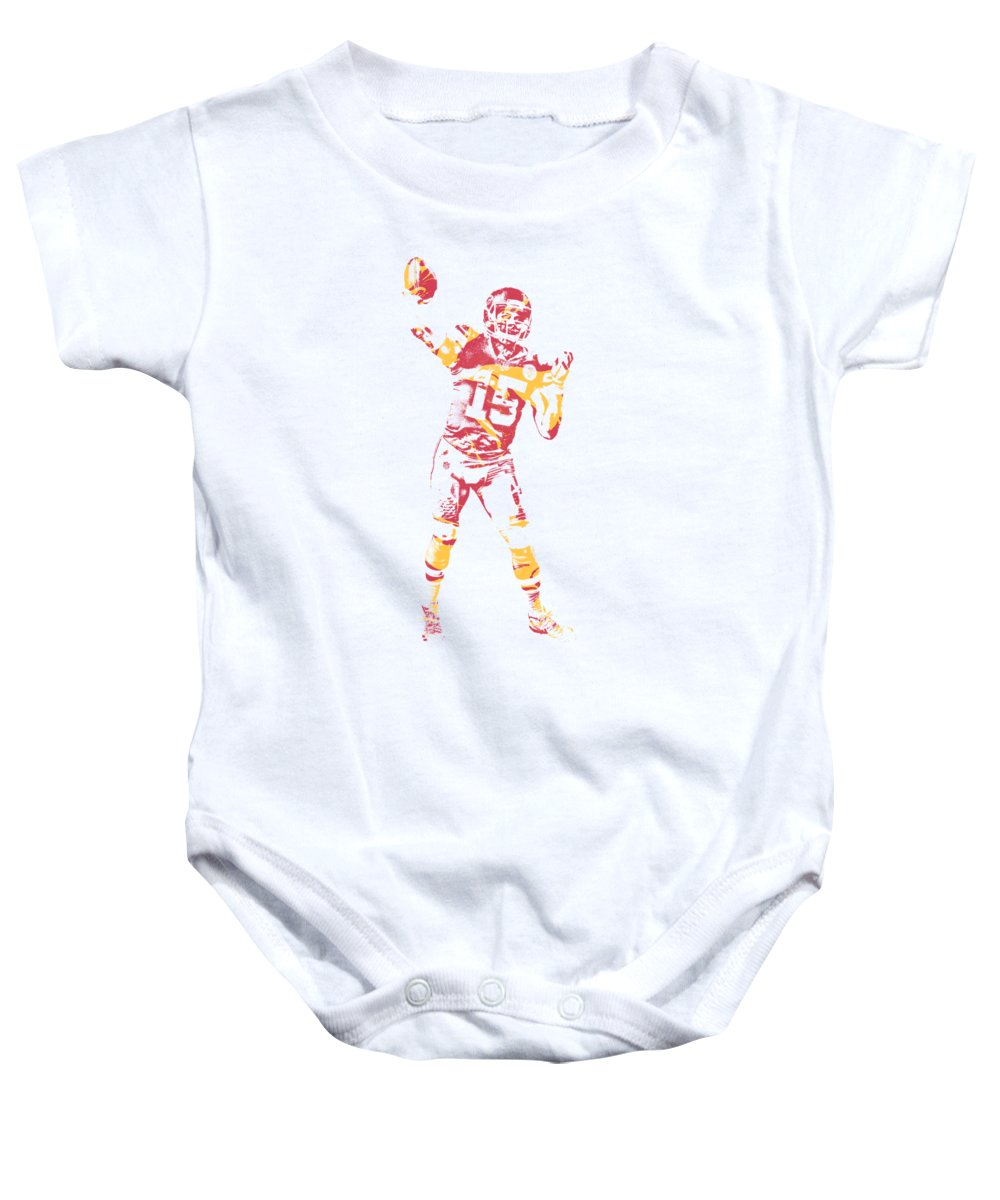 7e3479b5 Patrick Mahomes Kansas City Chiefs Apparel T Shirt Pixel Art 2 Baby Onesie