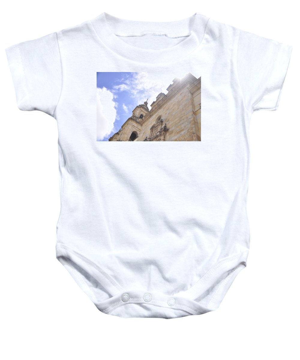 Colombia Baby Onesie featuring the photograph Santo Y Soleado by Adam Jones