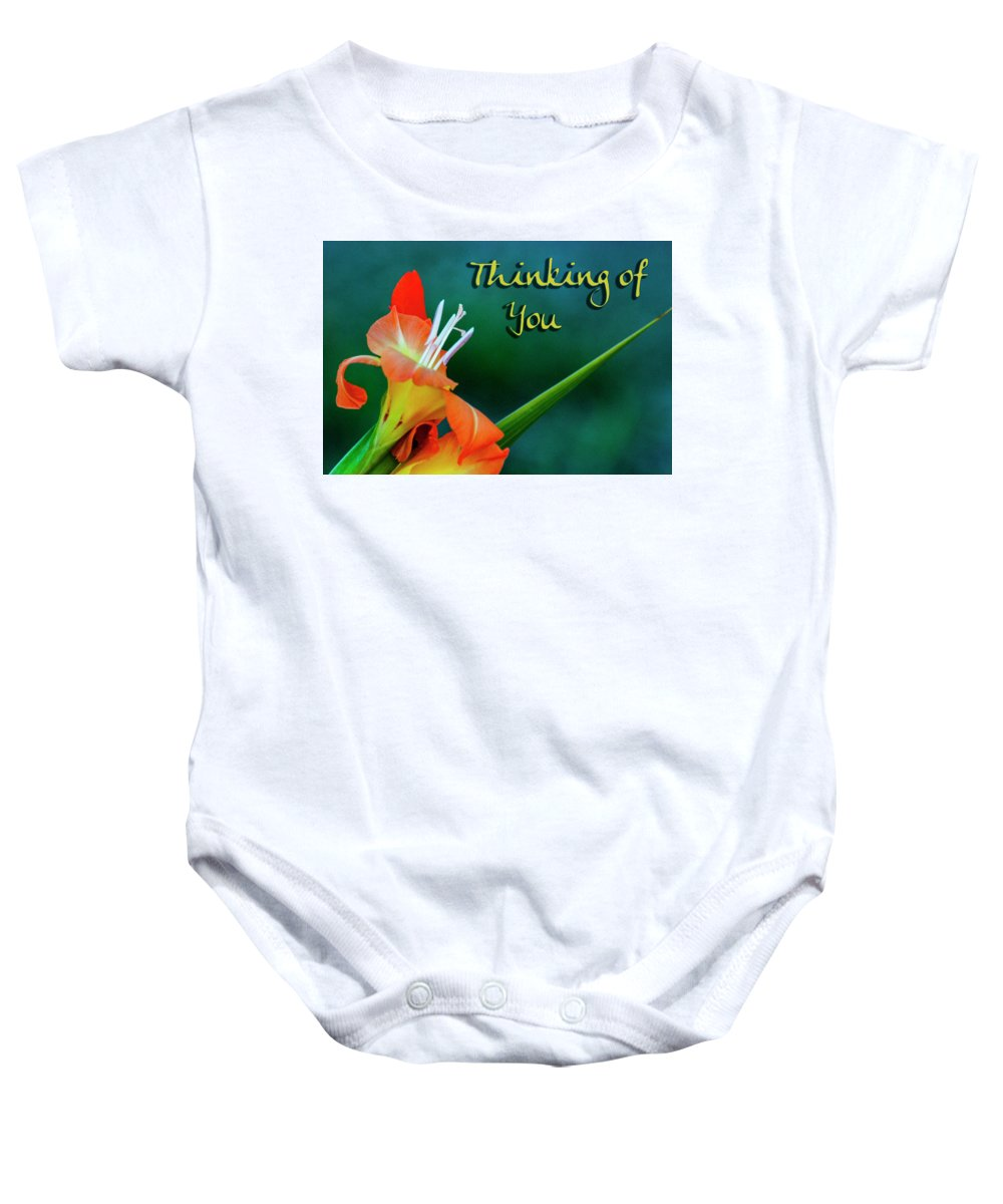 Card Baby Onesie featuring the photograph Thinking Of You by Annette Persinger