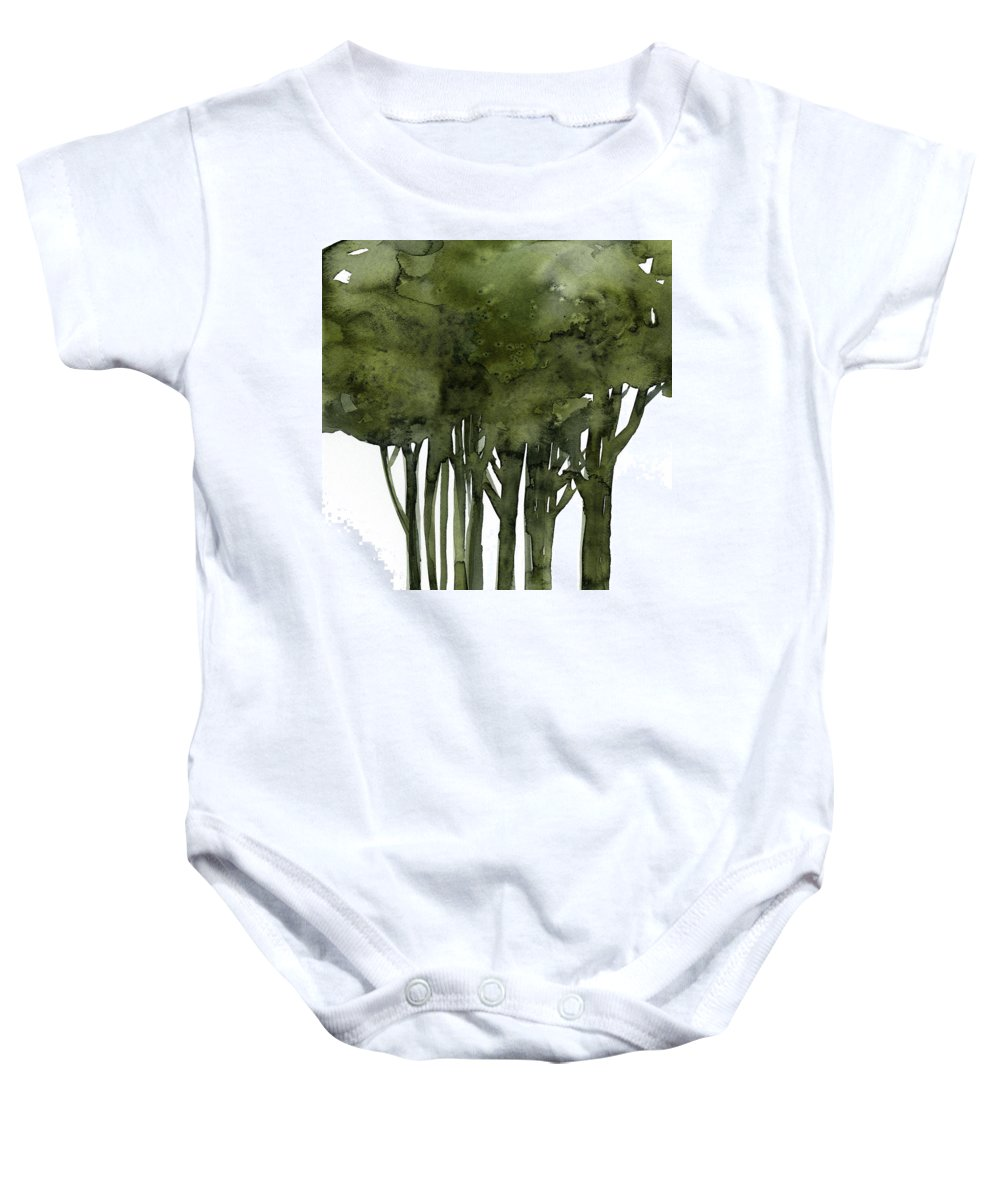 Tree Baby Onesie featuring the painting Tree Impressions 1b by Kathy Morton Stanion