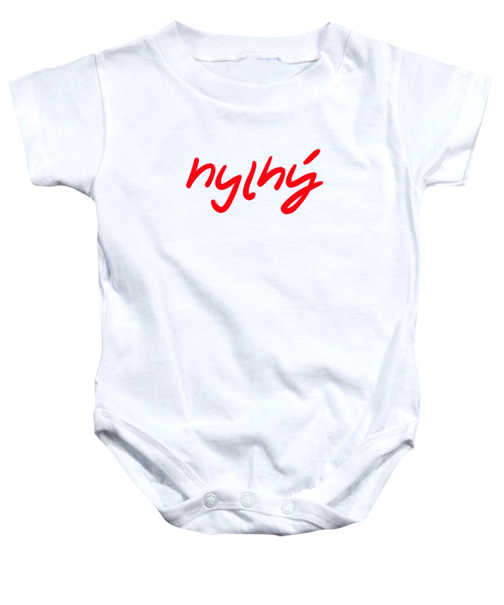 Language Baby Onesie featuring the digital art Language by Jagalapon