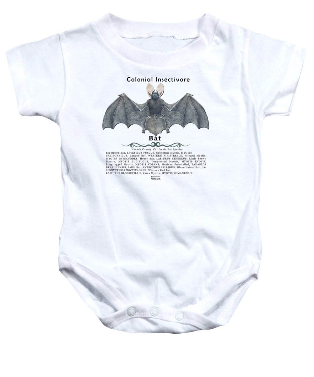 Bat Baby Onesie featuring the digital art Bats Of Nevada County by Lisa Redfern