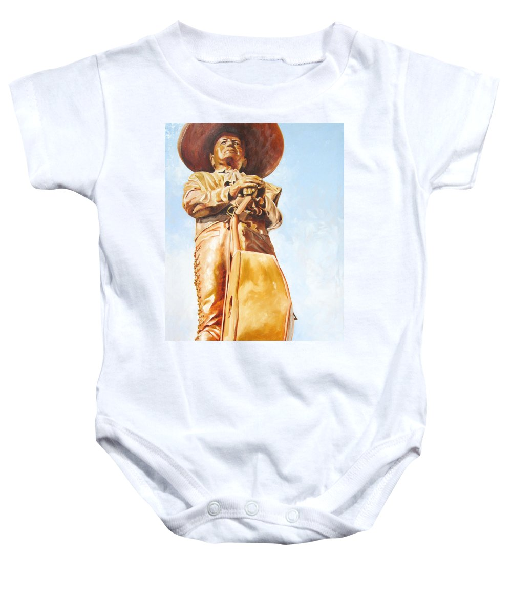 Mariachi Baby Onesie featuring the painting Mariachi by Laura Pierre-Louis