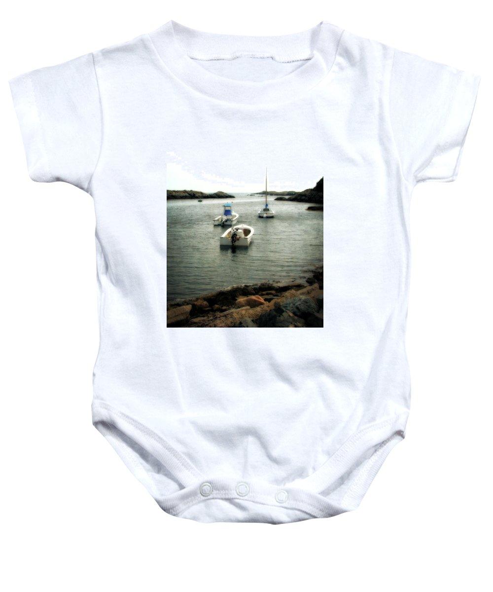 Ocean Baby Onesie featuring the photograph Newport Rhode Island Shoreline by Michelle Calkins