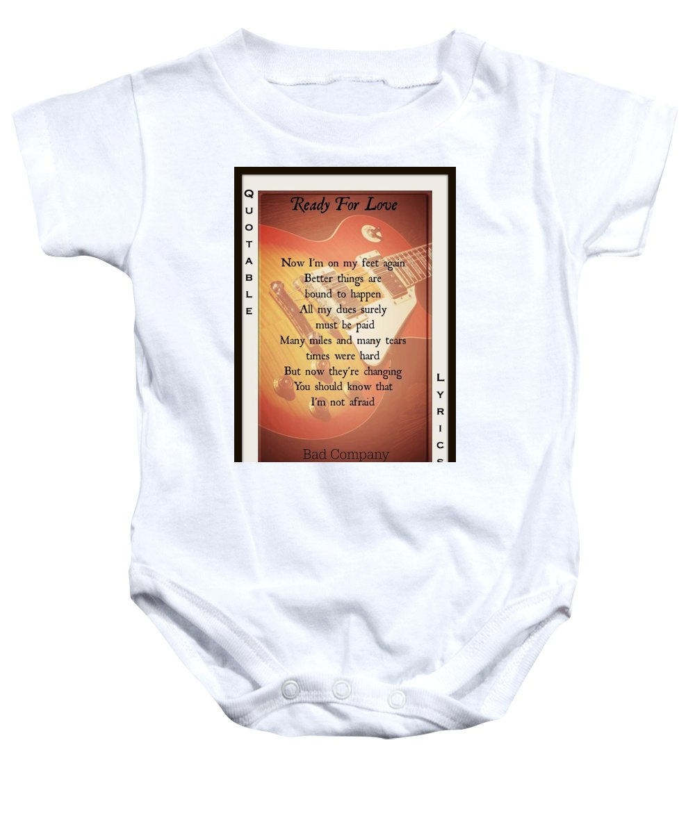 Bad Company Baby Onesie featuring the photograph Ready For Love 2 by David Norman