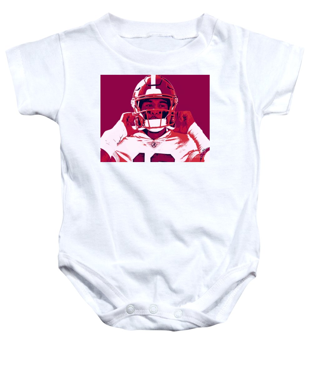 Tua Baby Onesie featuring the painting Tua by Jack Bunds