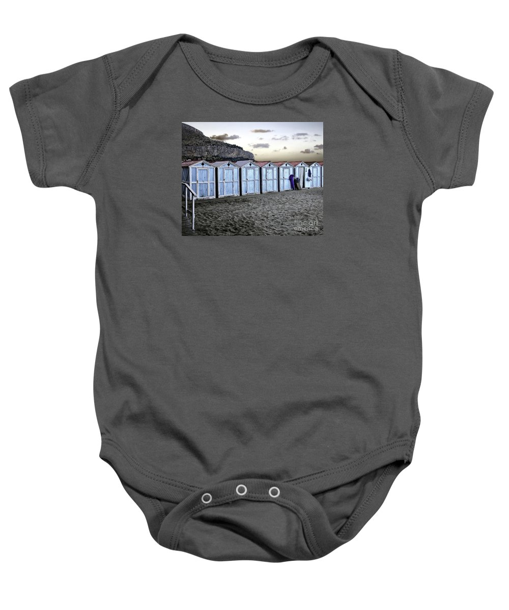 Beach Baby Onesie featuring the photograph End Of The Day by Madeline Ellis
