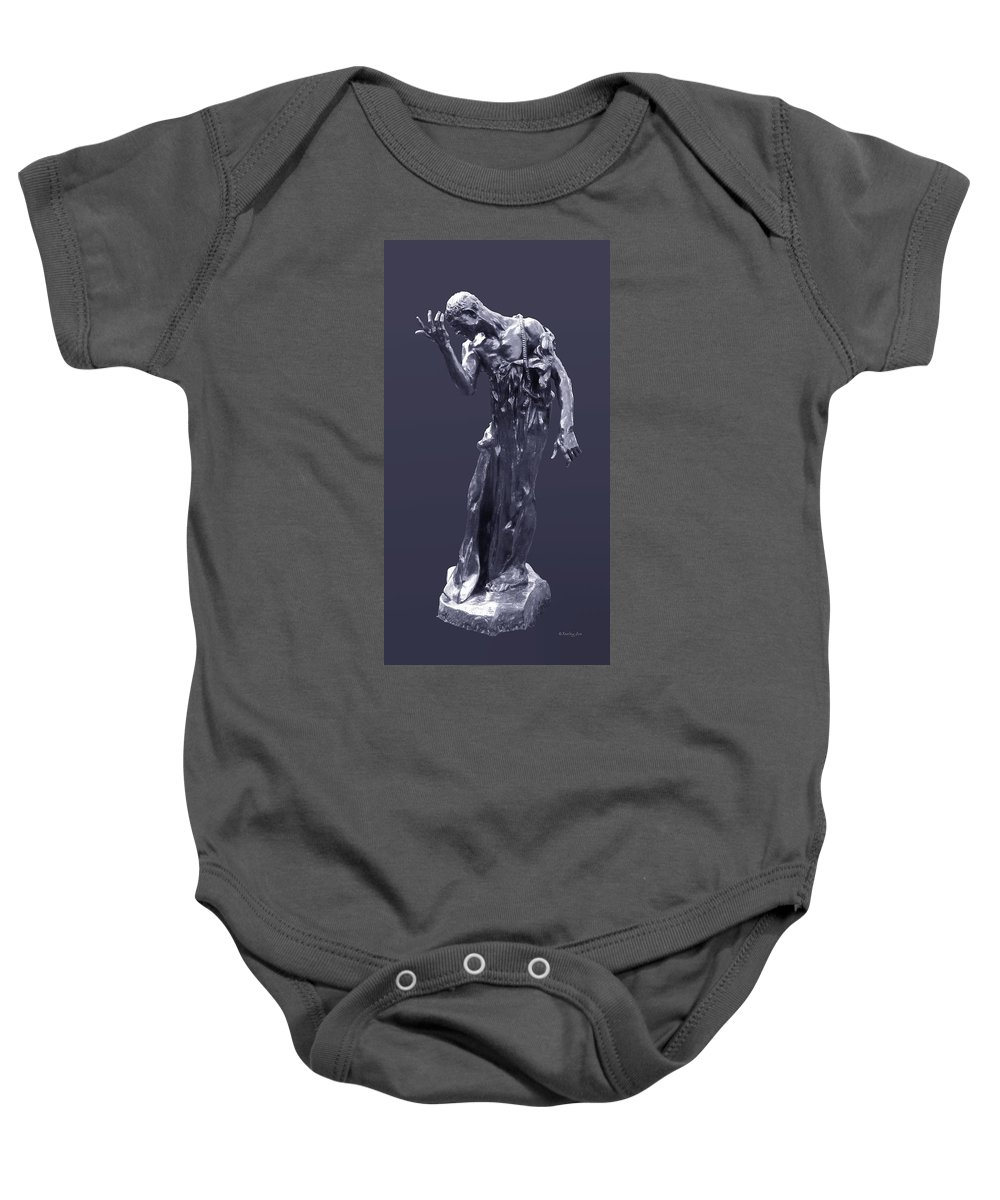 1889 Baby Onesie featuring the photograph The Sculpture Of Auguste Rodin by Xueling Zou