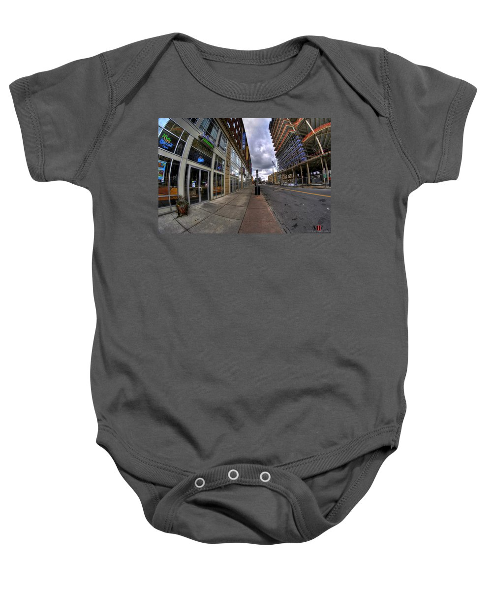 Michael Frank Jr Baby Onesie featuring the photograph 0024 The Edible Side Of The Chipp Stripp by Michael Frank Jr