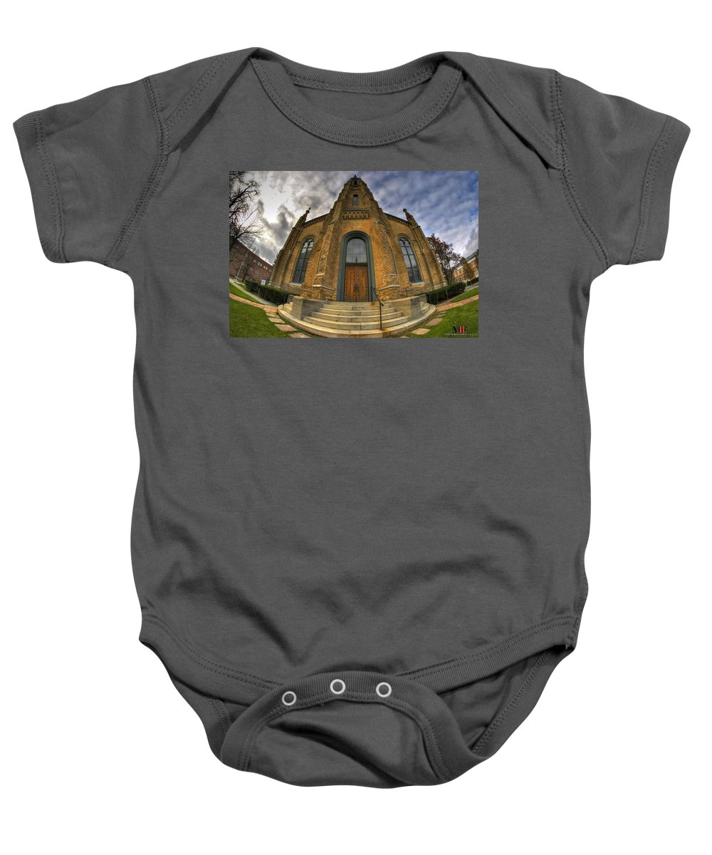 Michael Frank Jr Baby Onesie featuring the photograph 003 Westminster Presbyterian Church by Michael Frank Jr