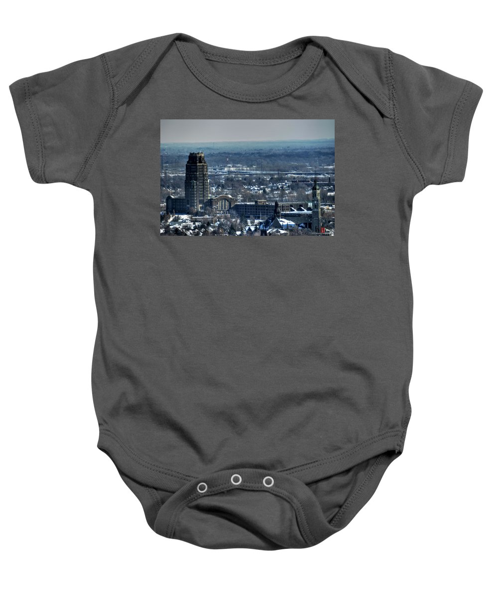 Michael Frank Jr Baby Onesie featuring the photograph 0045 After The Nov 2014 Storm Buffalo Ny by Michael Frank Jr