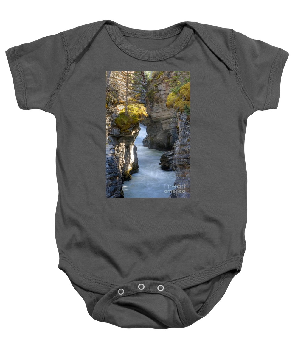 Athabasca Baby Onesie featuring the photograph 0191 Athabasca Canyon 2 by Steve Sturgill