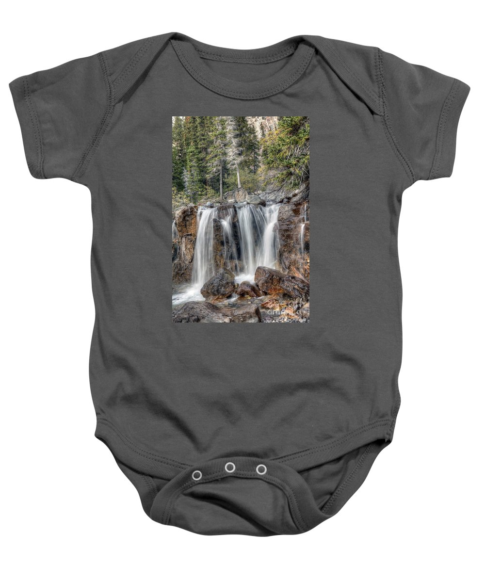 Tangle Baby Onesie featuring the photograph 0206 Tangle Creek Falls 2 by Steve Sturgill