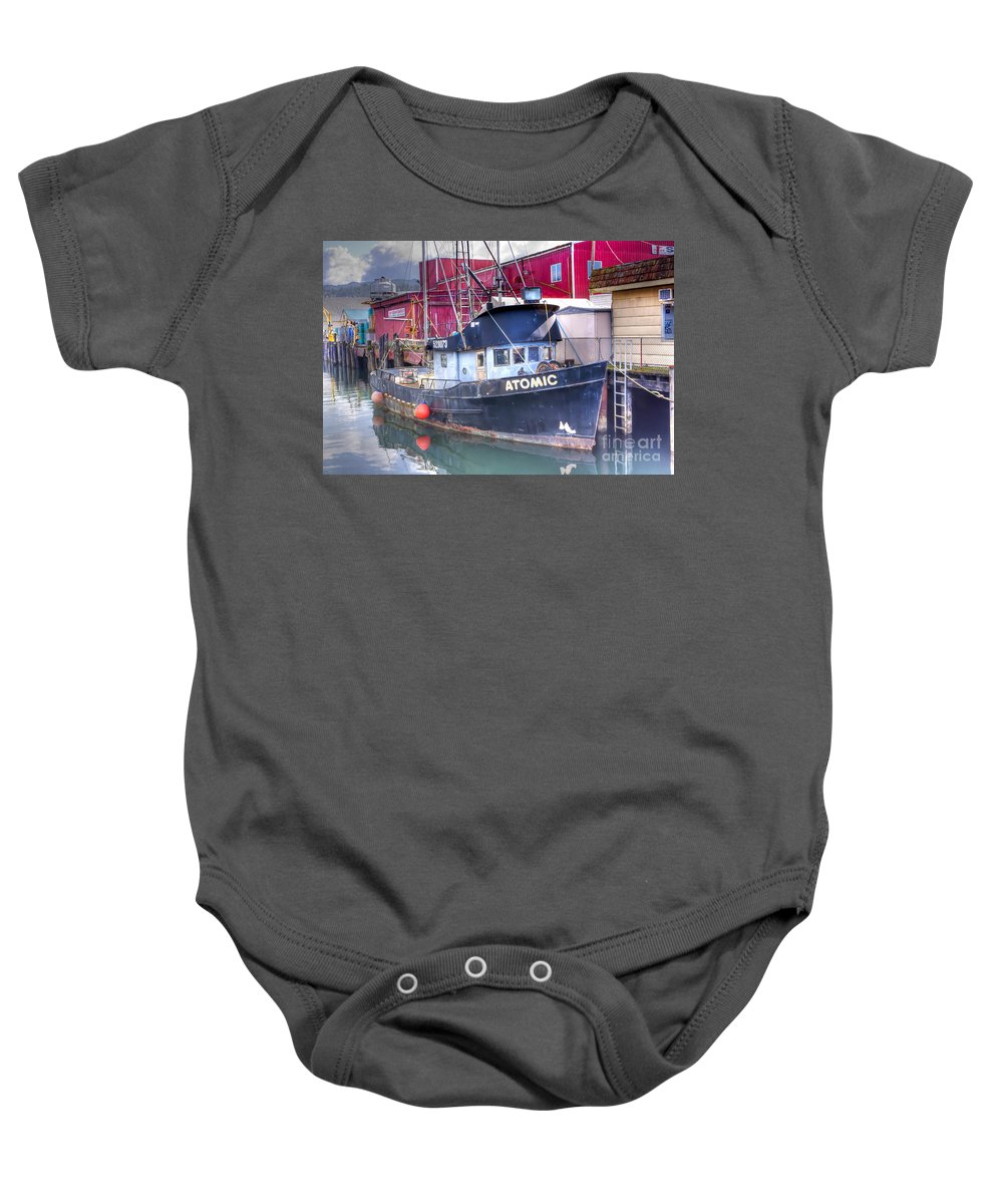 Oregon Baby Onesie featuring the photograph 0512 Oregon Coast by Steve Sturgill