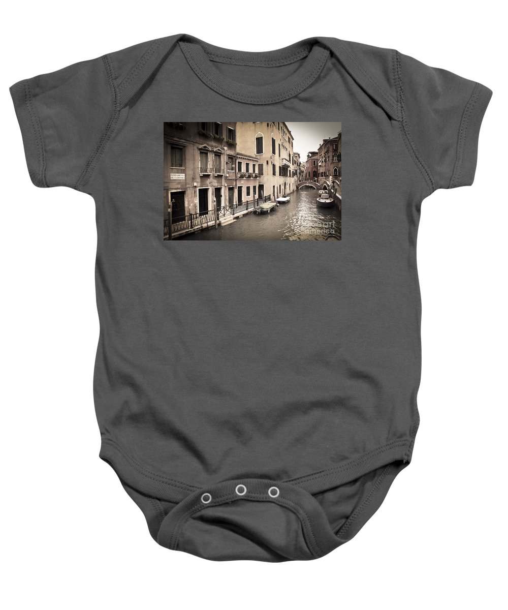 Venice Baby Onesie featuring the photograph 0502 Venice Italy by Steve Sturgill