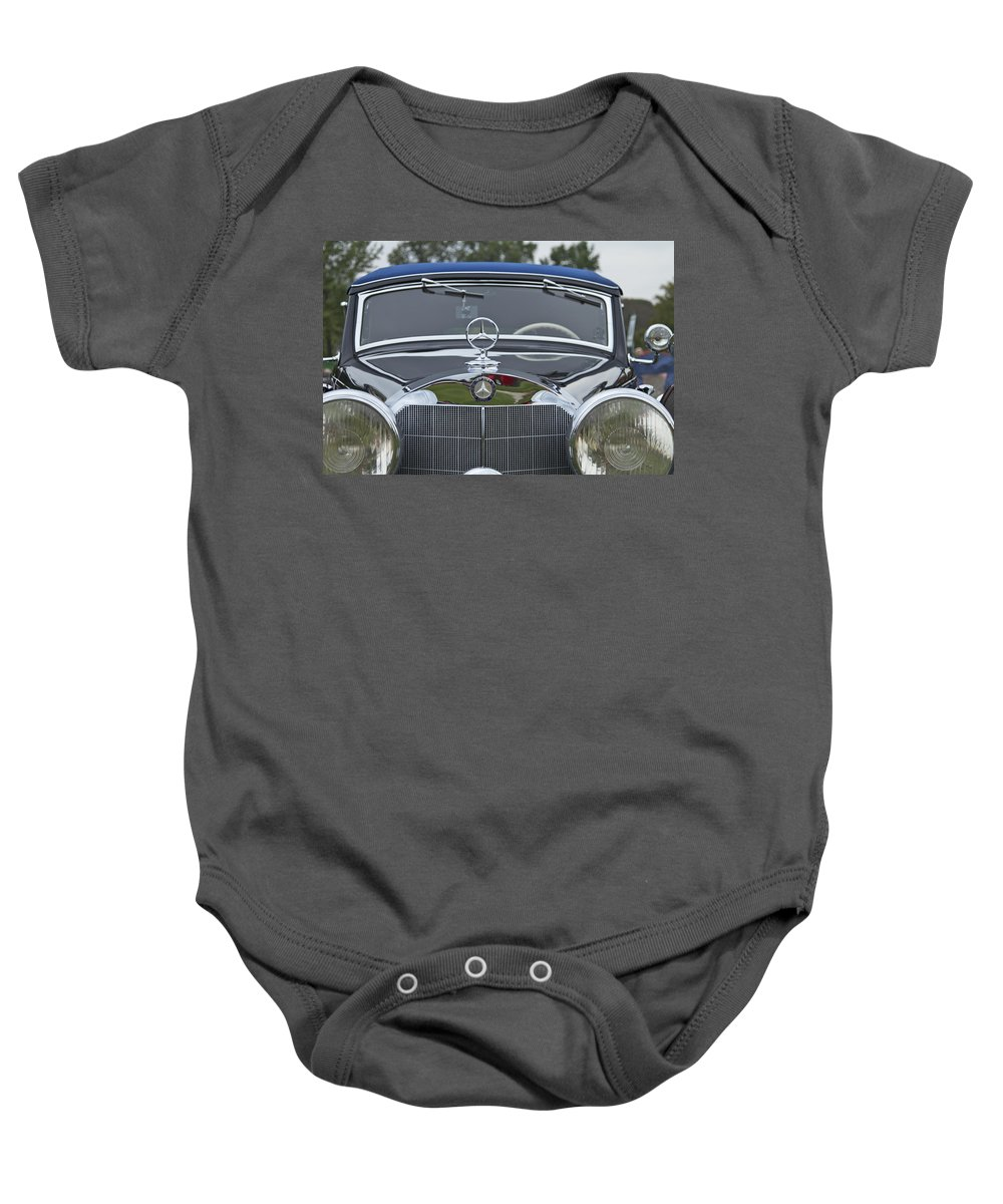 Antique Baby Onesie featuring the photograph 1937 Mercedes Benz by Jack R Perry