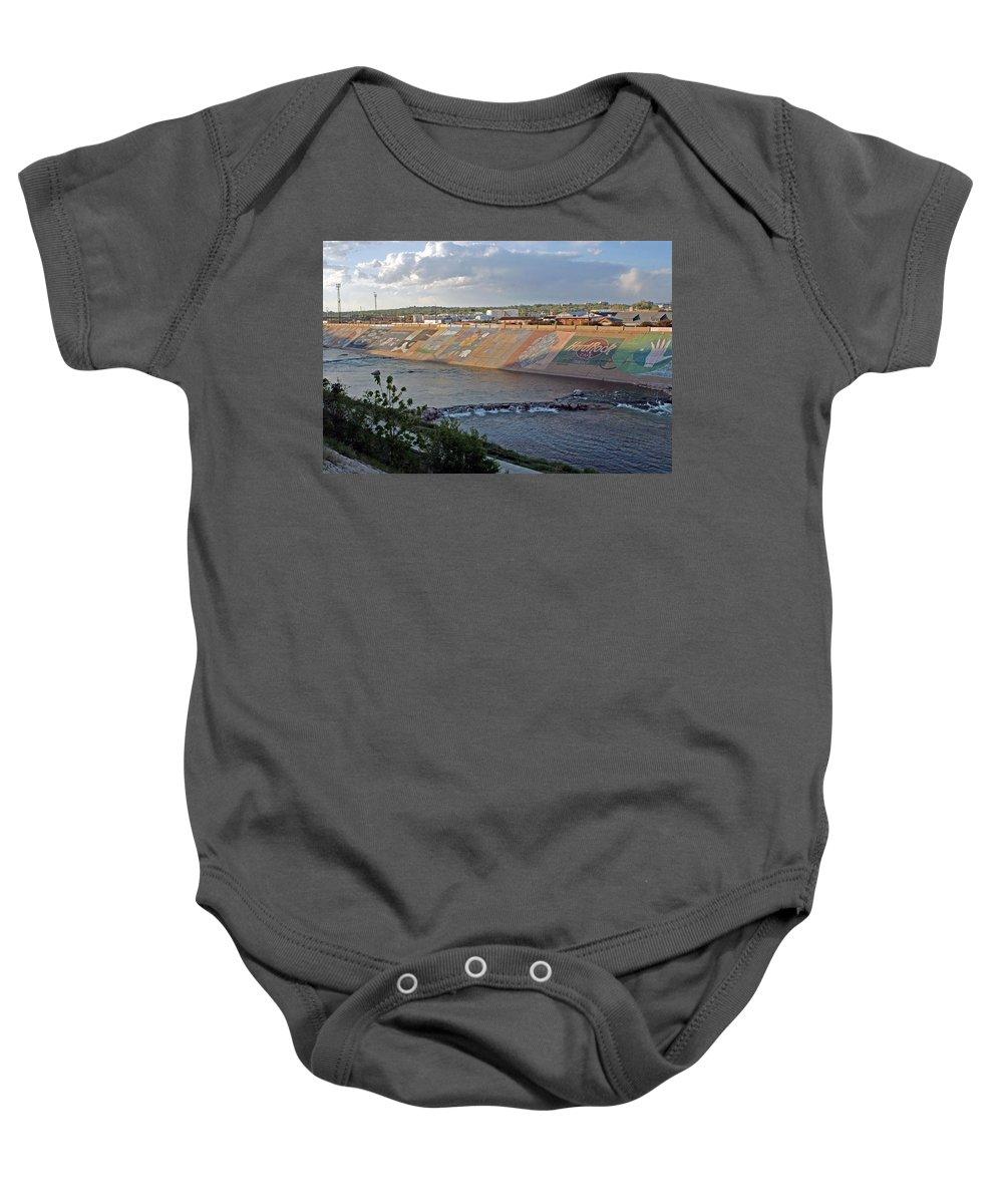 Riverwalk Baby Onesie featuring the photograph Arkansas River Walk by Shirley Roberson