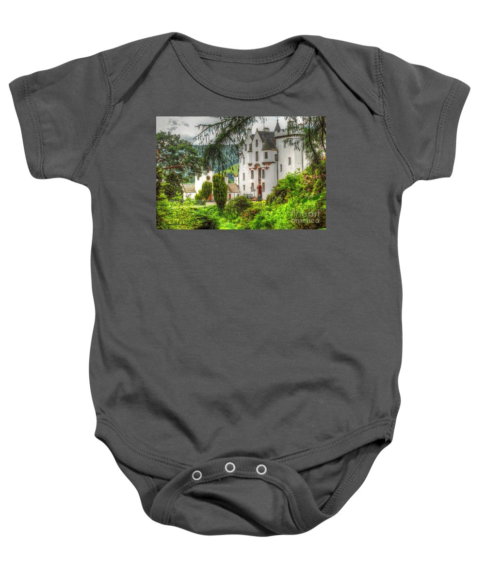 Castle Baby Onesie featuring the photograph Blair Castle by Traci Law