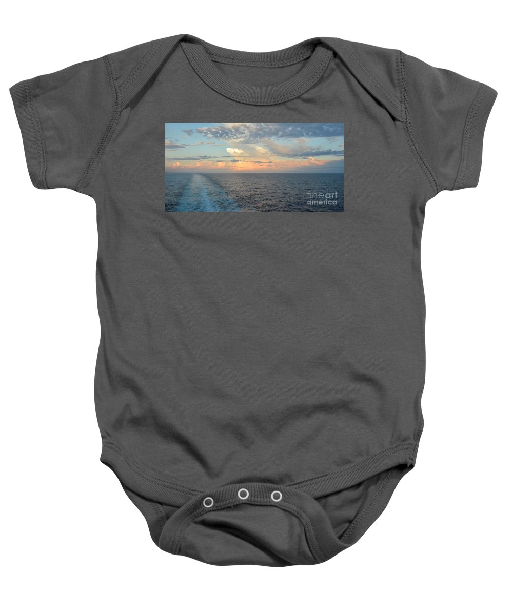 Bon Voyage Baby Onesie featuring the photograph Bon Voyage by Yinguo Huang
