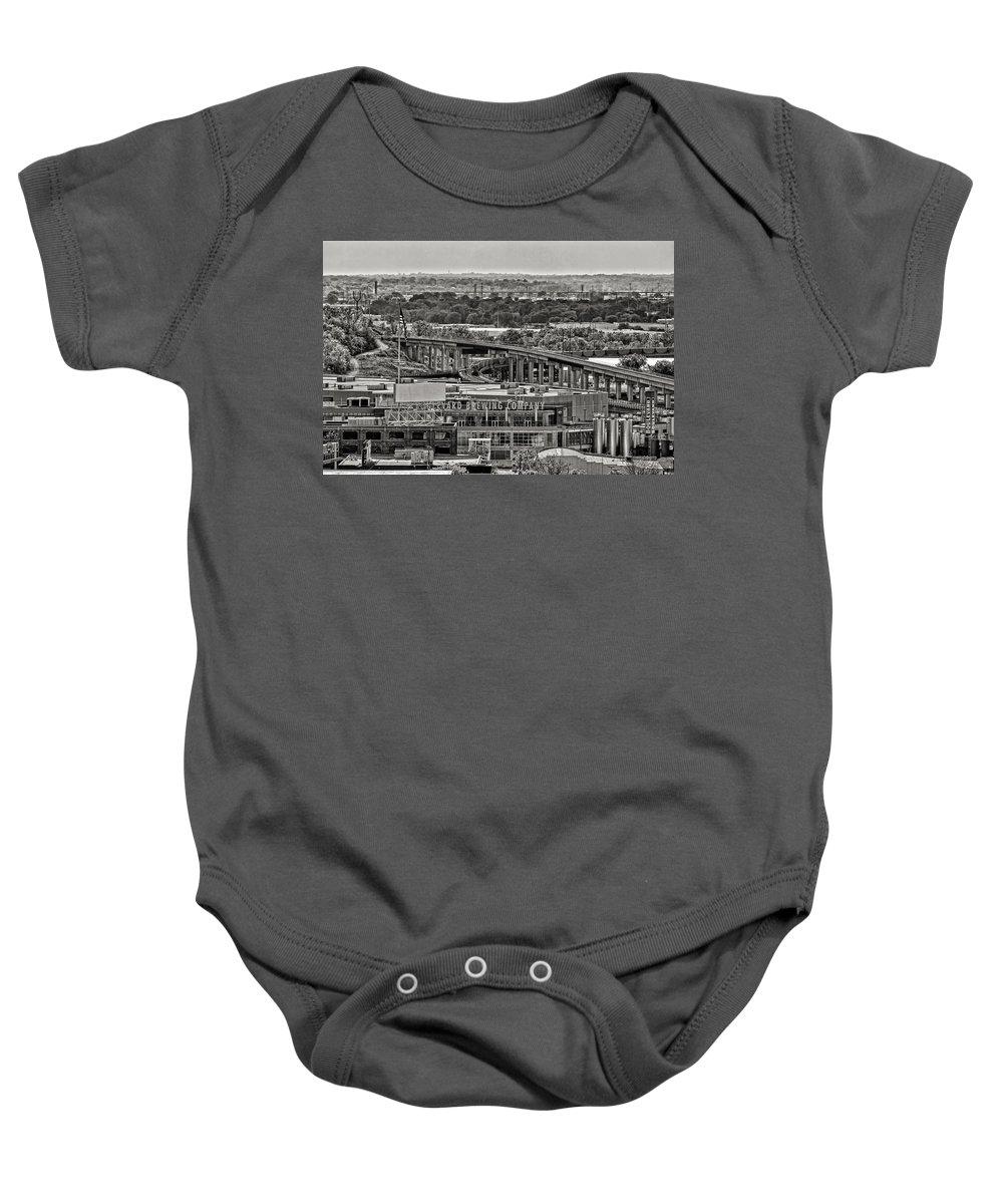 Essense Of Missouri Baby Onesie featuring the photograph Boulevard Brewing Company by Sennie Pierson