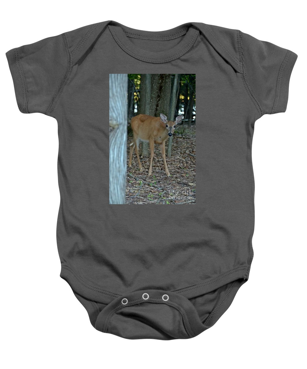 Deer Baby Onesie featuring the photograph Deer 1 by Cassie Marie Photography