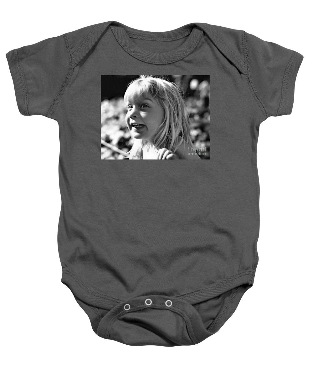 Portrait Baby Onesie featuring the photograph Delight by Rory Sagner