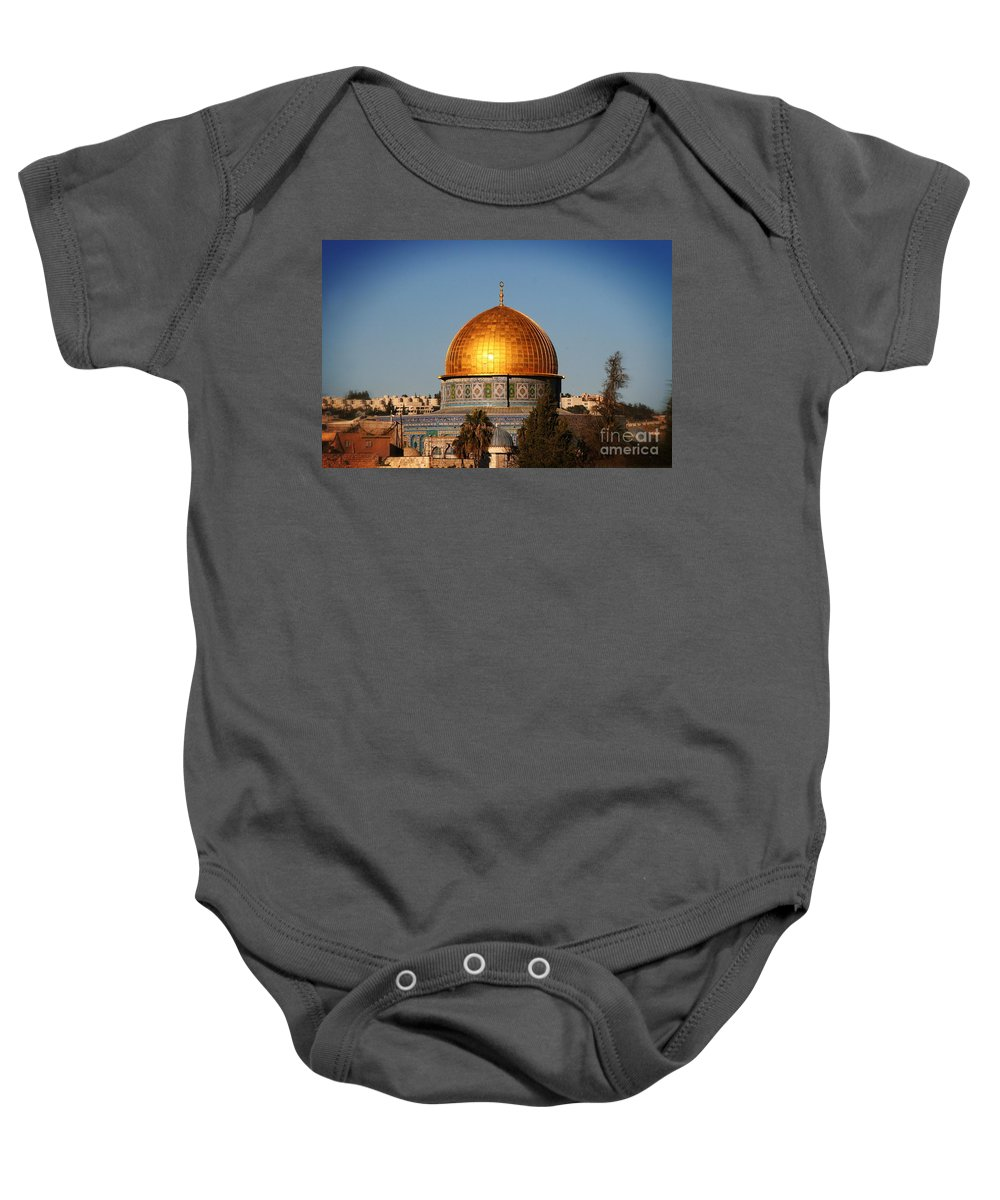 Al Aqsa Mosque Baby Onesie featuring the photograph Dome by Doc Braham