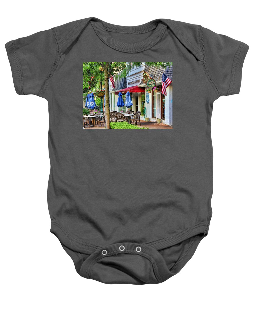 Downtown Worthington Baby Onesie featuring the photograph Downtown Worthington by Jack Schultz