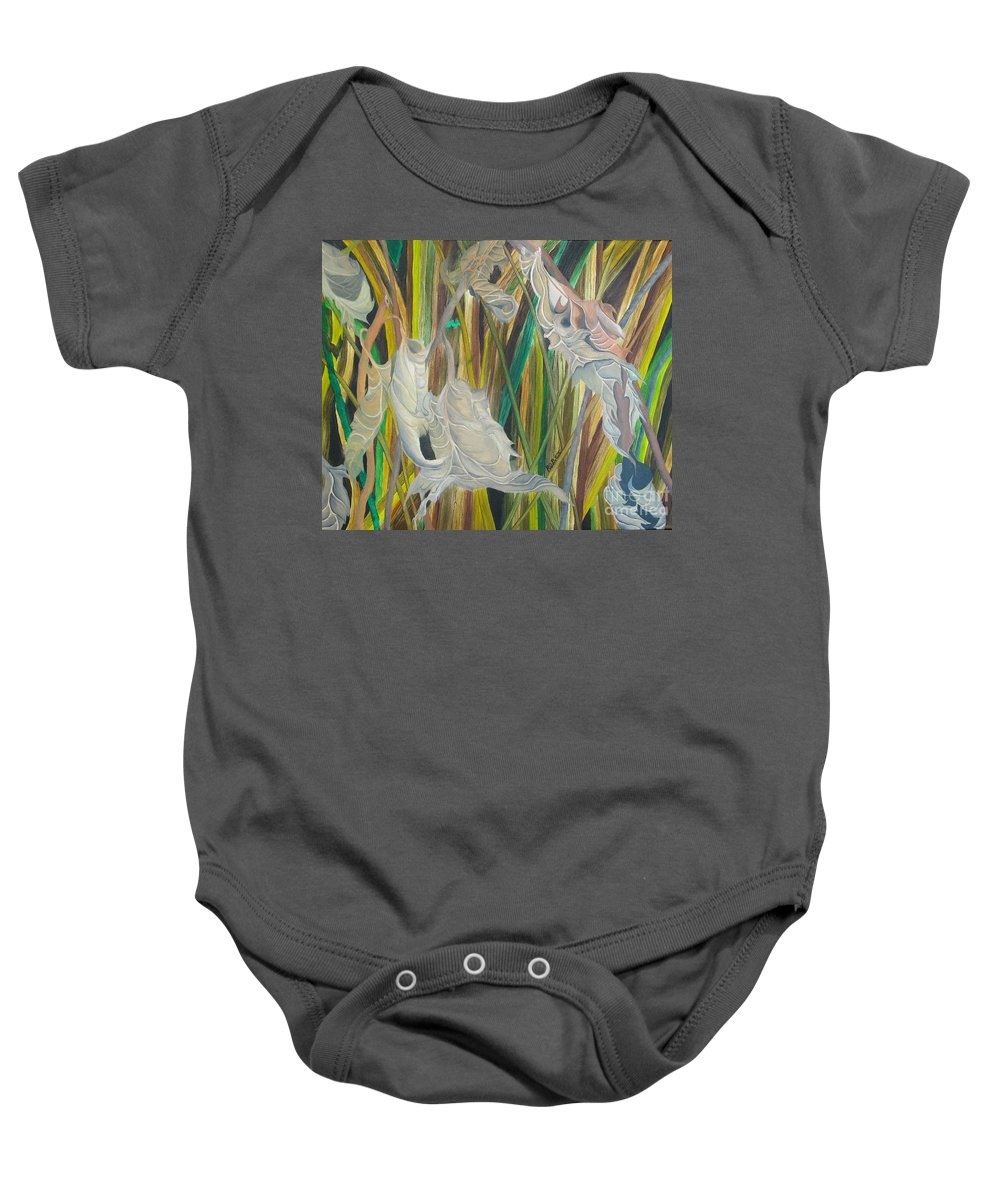 Baby Onesie featuring the painting Fall Leafs Won by Richard Dotson