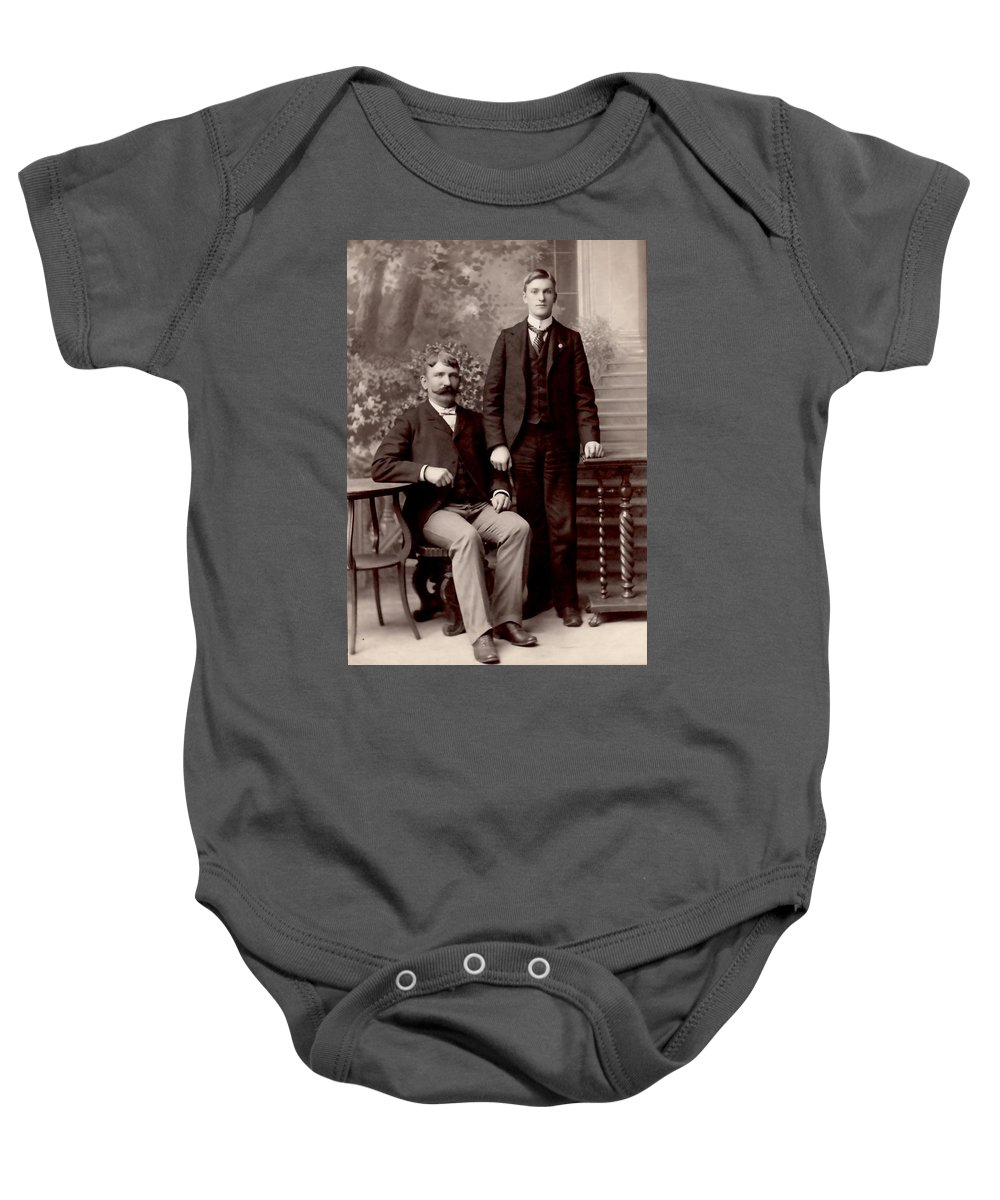 Vintage Baby Onesie featuring the photograph Father And Son by Image Takers Photography LLC