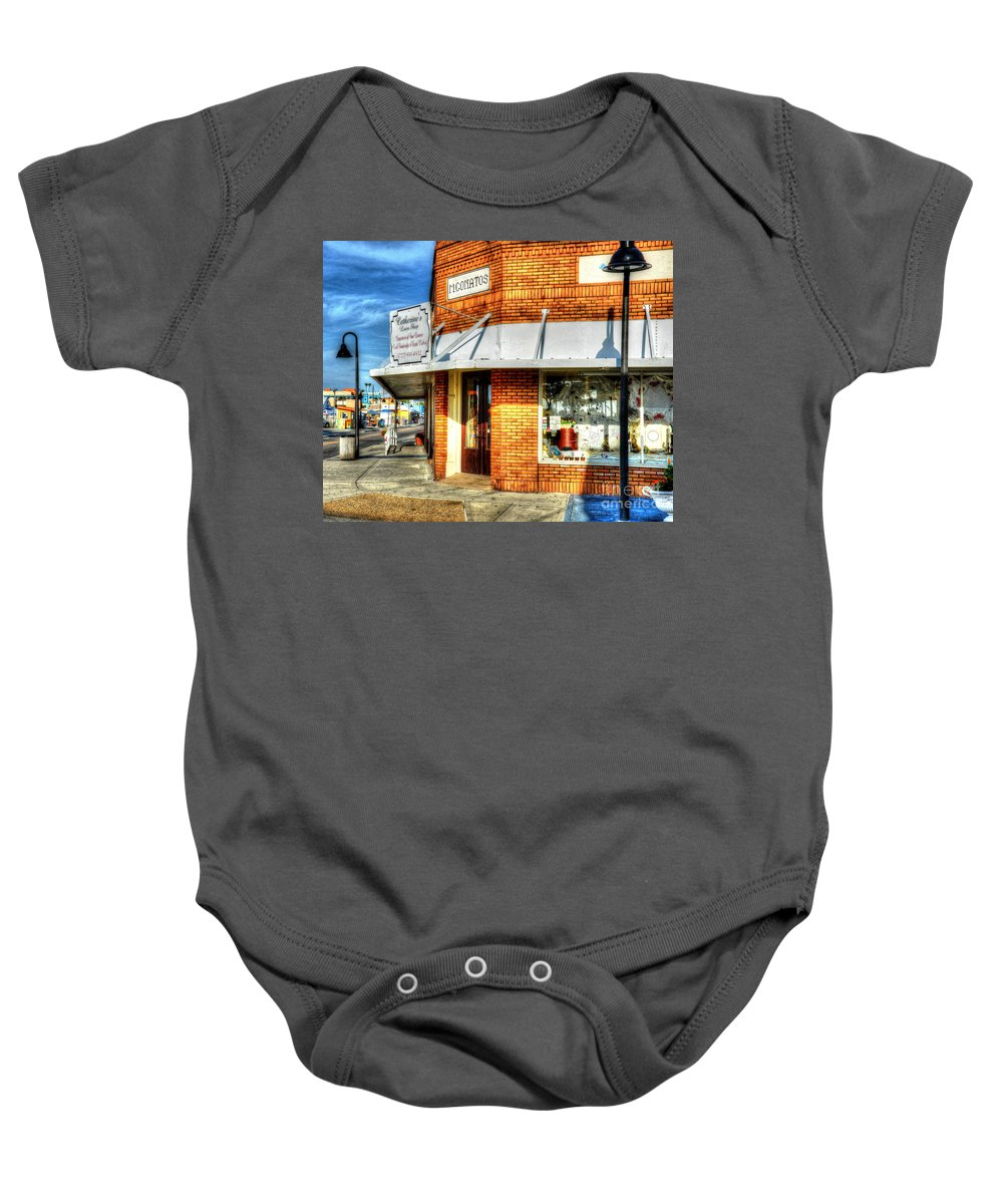 Building Baby Onesie featuring the photograph Hit The Bricks by Debbi Granruth