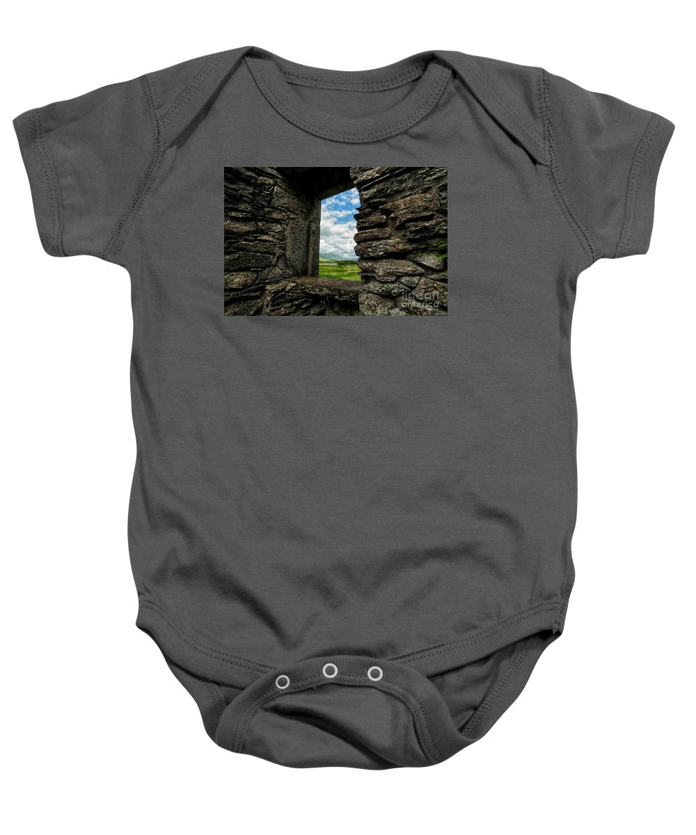 Scotland Baby Onesie featuring the photograph Kilchurn Castle by Traci Law
