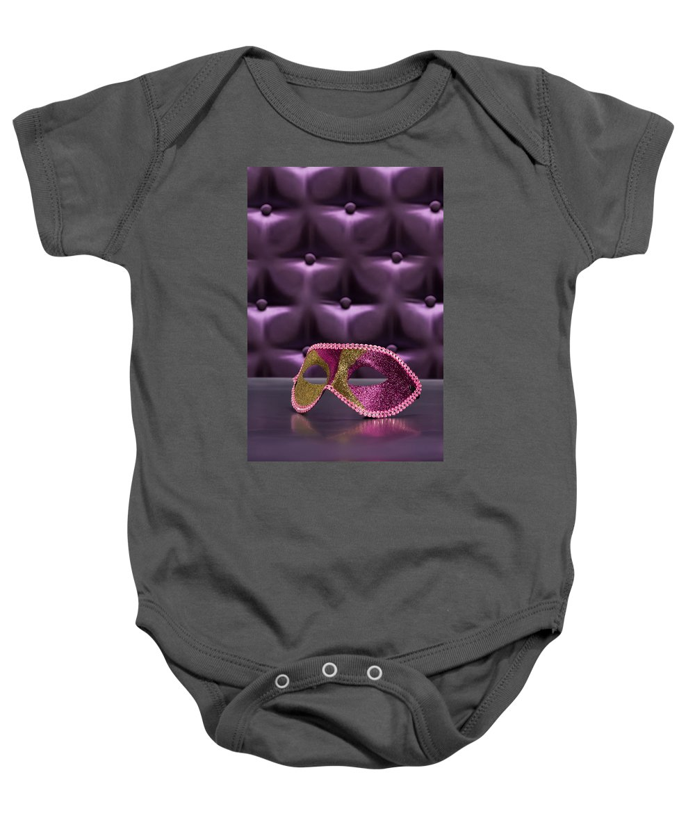 Button-tufted Baby Onesie featuring the photograph Masquerade by U Schade